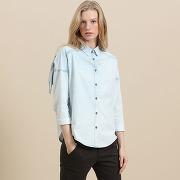 Soldes ! chemise en jean - feminin - bleu - maison scotch