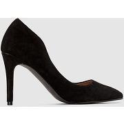 Soldes ! escarpins cuir à talon haut - feminin - noir - la redoute collections