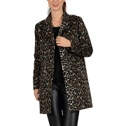 Manteau mi-long à imprimé léopard marron molly bracken femme