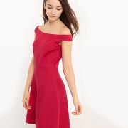 Soldes ! robe épaules nues coupe cintrée - feminin - rouge - esprit