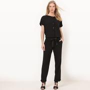 Soldes ! combinaison pantalon manches courtes - feminin - noir - la redoute collections