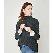 Pull col montant gris fonce - promod