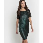 Soldes ! robe à sequins décolleté dos - feminin - vert - mademoiselle r