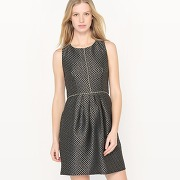 Soldes ! robe cintrée jacquard brillant - feminin - noir - molly bracken