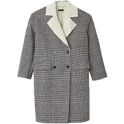 Manteau carreaux noir/blanc