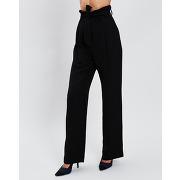 Sisley-femme-pantalon ample taille haute noir-tf.38/ti.42