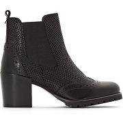 Boots cuir à talons augusta noir