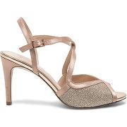Sandale nude multibride à paillettes