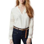 Chemise à dentelle beige one step femme