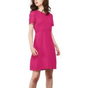 Robe courte en voile plumetis rose comptoir des cotonniers femme