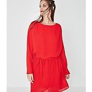 Robe gaufree femme rouge - promod