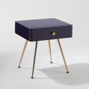 Chevet 1 tiroir topim violet-violet-taille unique-meubles, déco > chambre adulte > table de chevet