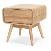 Esme, table de chevet, frêne-bois clair-hauteur 45 x largeur 42 x profondeur 42 cm - tous les meubles