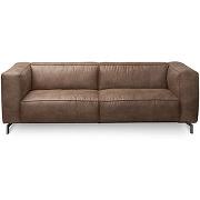 Canapé 2 places en cuir montreal - couleur - cognac