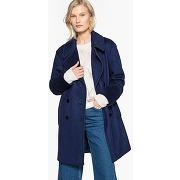 Caban style militaire en laine mélangée bleu marine