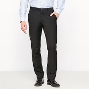 Pantalon de costume coupe droite - masculin - noir - r edition