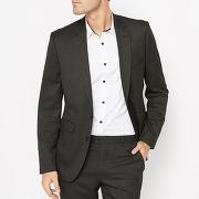 Veste de costume coupe slim - masculin - gris - r essentiel