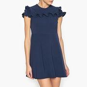 Soldes ! robe courte à volants - feminin - bleu - sister jane
