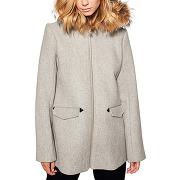 Manteau laine lavende gris karl marc john femme