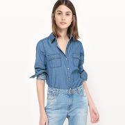 Soldes ! chemise en jean - feminin - bleu - la redoute collections