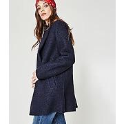 Soldes - manteau en laine femme marine - promod