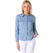 Chemise jeans 2 poches poitrine femme