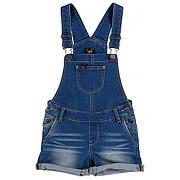 Salopette courte en jean bleu indigo - leesalopette courte en jean bleu indigo - fille