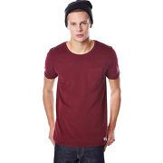 T-shirt à manches courtes shine jules bordeaux