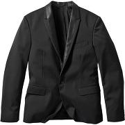 Veste de costume slim fit noir manches longues homme - bonprix