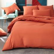Housse de couette unie pur coton lavé, bensimon rouge - bensimon
