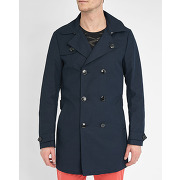 Trenchs scotch and soda pour homme - trench ceinturé bleu marine