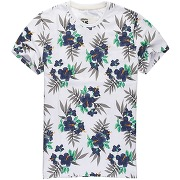 T-shirt manches courtes superdry, hawaiian blanc - superdry