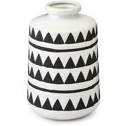 Hazel vase aux motifs noirs et blancs en céramique