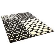 Benuta tapis patchwork swing noir & blanc 140x200 cm