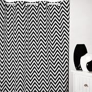 Rideau (140 x h250 cm) dozer blanc et noir