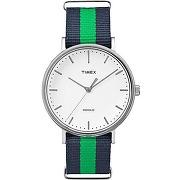 Montre timex tw2p90800d7 bleu, vert pour femme - affichage analogique (aiguilles)