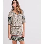 Soldes - robe tunique imprimee femme imprime vert clair - promod