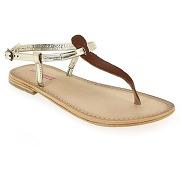 Sandales et nu-pieds les tropéziennes par m belarbi narvil camel pour femme en cuir