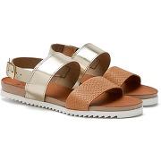 Sandales femme bi-matières semelle confort, fondo. soldes !