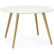 Table de cuisine ronde 'amy' blanche style scandinave - Ø 120 cm solde