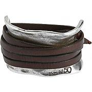 Bracelet acier plaqué argent femme bracelet ibiza pul0227mar l