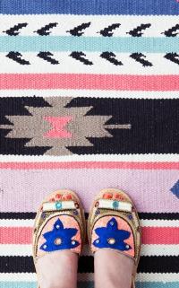 tapis imprimé ethnique
