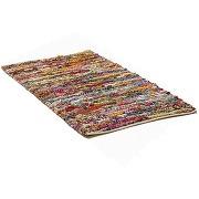 Tapis rectangulaire en coton - 140x200 cm - bariolé - bafra