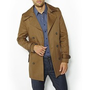 Trench court en twill. marron - r essentiel