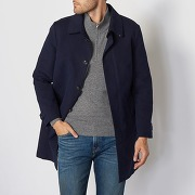 Trench sartorial trench bleu - superdry