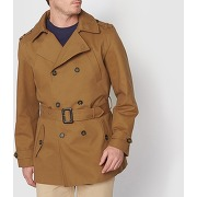 Trench court 100% coton marron - castaluna for men