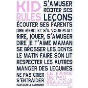 Affiche adhesive enfant kids rules - créations personnalisables