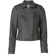 Veste style perfecto simili cuir gris - vero moda