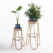 Soldes ! table porte-plantes, abida, lot de 2 - gris - la redoute interieurs