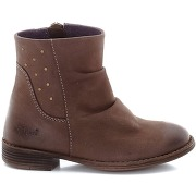 Soldes ! boots cuir robber - feminin - marron - kickers
